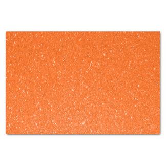 Impresión anaranjada suave del brillo papel de seda pequeño