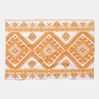 Impresión anaranjada ucraniana del algodón de la t