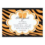 Impresión anaranjada y negra del tigre comunicado personalizado