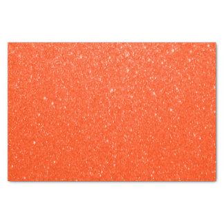 Impresión anaranjado oscuro suave del brillo papel de seda pequeño