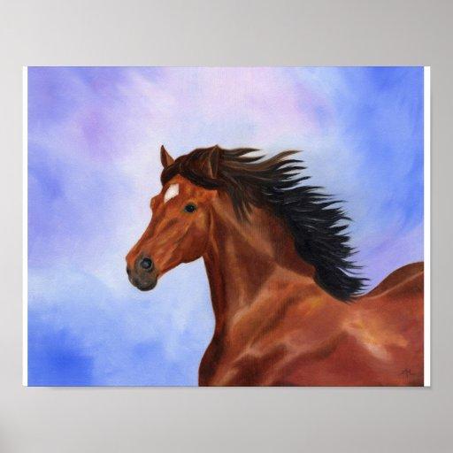 Impresión andaluz del caballo de Brown Posters
