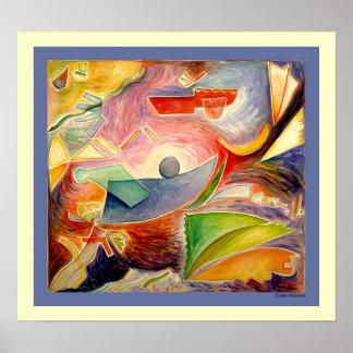 Impresión angelical de la pintura posters