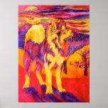 Impresión animal de la lona de los amantes del hus impresiones
