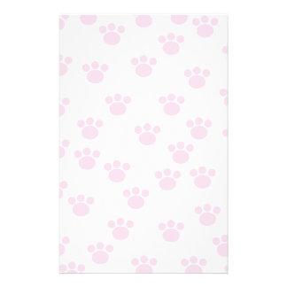 Impresión animal de la pata Modelo rosa claro y b Tarjetón