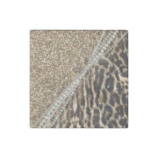 Impresión animal de la piel de imitación del imán de piedra