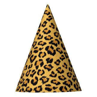 Impresión animal de la piel del leopardo o del gorro de fiesta