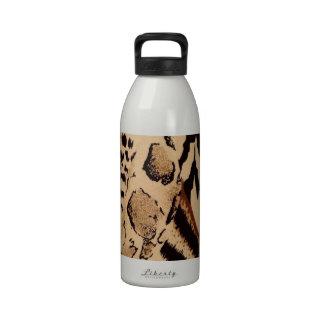 Impresión animal de la tela del safari botella de agua