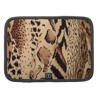 Impresión animal de la tela del safari organizador