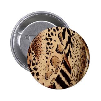 Impresión animal de la tela del safari pins