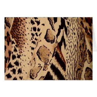 Impresión animal de la tela del safari felicitaciones