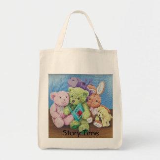 Impresión animal del arte del tiempo del círculo bolsa tela para la compra