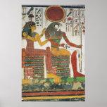 Impresión antigua de Horus del egipcio Posters