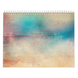 Impresión apenada arco iris de la textura de Ombre Calendario