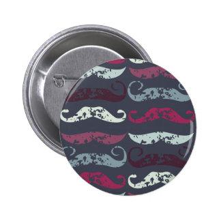 Impresión apenada del bigote pin redondo de 2 pulgadas