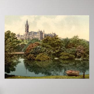 Impresión archival de la universidad de Glasgow Poster