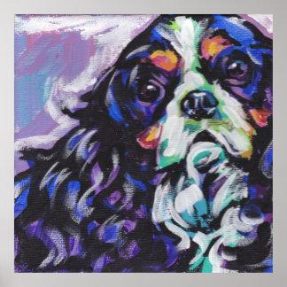 Impresión arrogante del arte pop del perro de agua posters