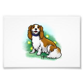 Impresión arrogante del perro de aguas de rey Char Cojinete