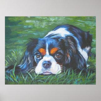 Impresión arrogante tricolora del arte del perro d posters