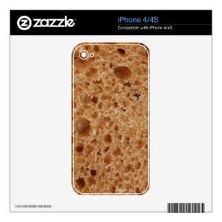 Impresión ascendente cercana del pan - regalo iPhone 4S skins