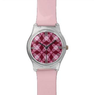 Impresión atómica moderna de los mediados de siglo relojes de pulsera