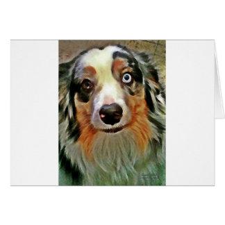 Impresión australiana del pastor tarjeta de felicitación