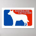 Impresión australiana del perro de la primera divi poster