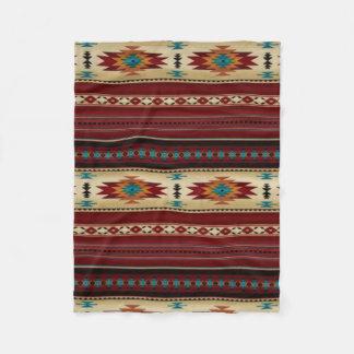 Impresión azteca de RED/TAN Manta De Forro Polar