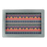 impresión azteca hebillas de cinturón rectangulares