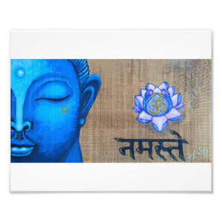 Impresión azul de Buda