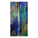 Impresión azul de la cascada