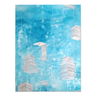 Impresión azul de la ciudad fotografia