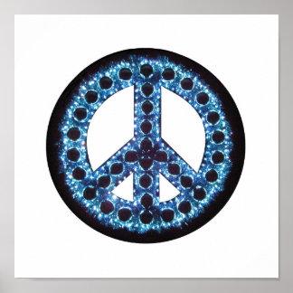 impresión azul de la lona de la paz impresiones