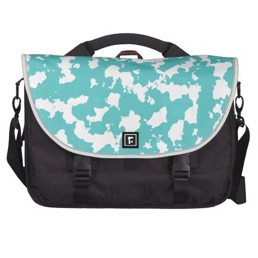 Impresión azul de la mancha bolsas de portátil