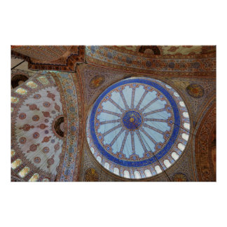 Impresión azul de la mezquita posters