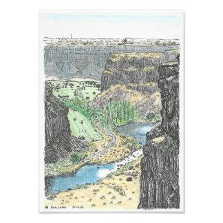 Impresión azul de los lagos fotografías