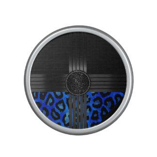 Impresión azul de lujo del guepardo altavoz bluetooth