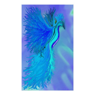 Impresión azul de Phoenix Póster