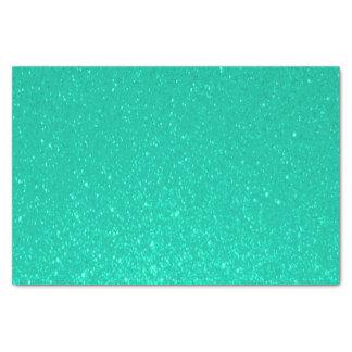 Impresión azul del brillo del trullo suave papel de seda pequeño