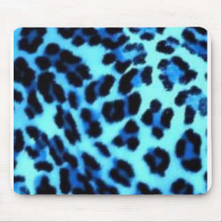 impresión azul del guepardo alfombrillas de raton