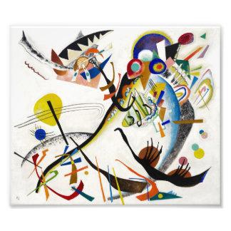 Impresión azul del segmento de Kandinsky Fotografías