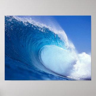 Impresión azul grande de la onda impresiones