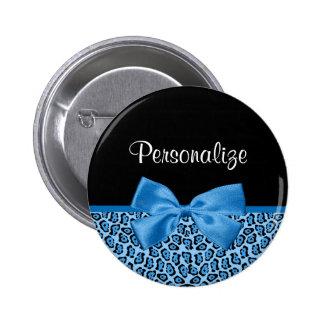 Impresión azul linda Blue Ribbon brillante de Pin Redondo De 2 Pulgadas