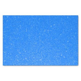 Impresión azul media suave del brillo papel de seda pequeño
