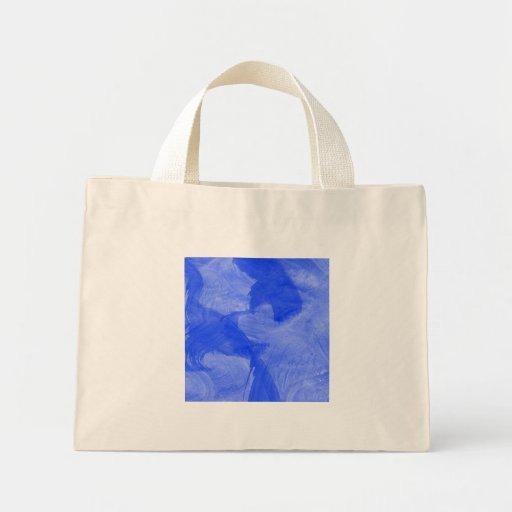 Impresión azul y blanca de la acuarela bolsa de mano