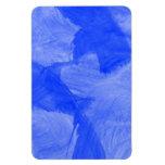 Impresión azul y blanca de la acuarela iman rectangular