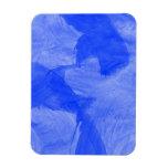 Impresión azul y blanca de la acuarela imanes de vinilo
