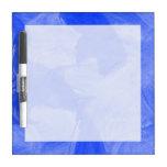 Impresión azul y blanca de la acuarela tablero blanco