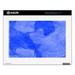 Impresión azul y blanca de la acuarela calcomanía para netbook