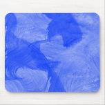 Impresión azul y blanca de la acuarela alfombrilla de raton