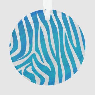 Impresión azul y blanca de la cebra